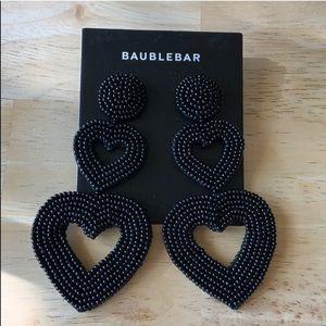 BaubleBar VIERRA HEART DROP EARRINGS Black